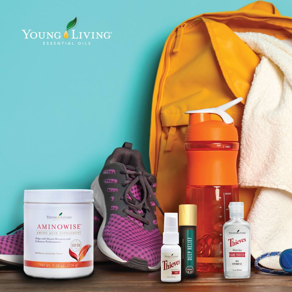 Gym Bag Spray: 5 Gym Bag Must Haves From Young Living