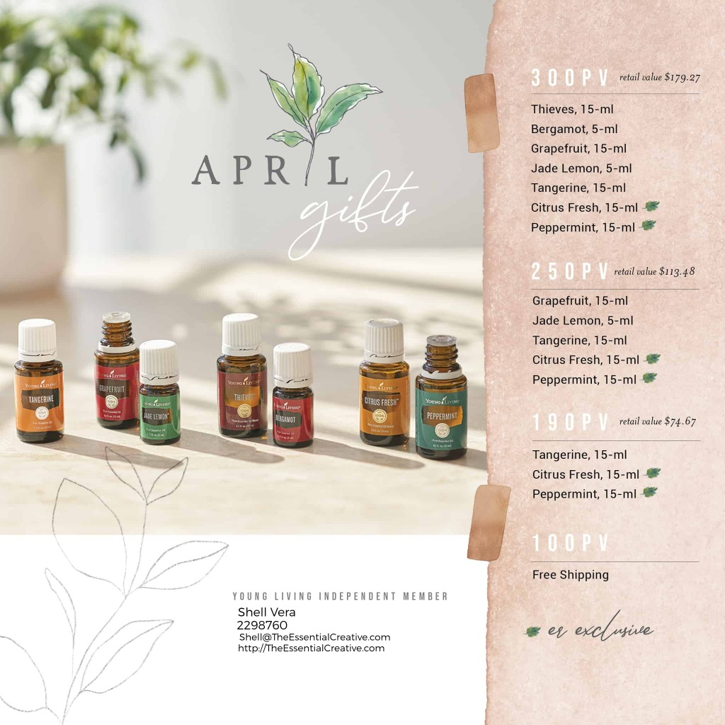 April Promo from Young Living