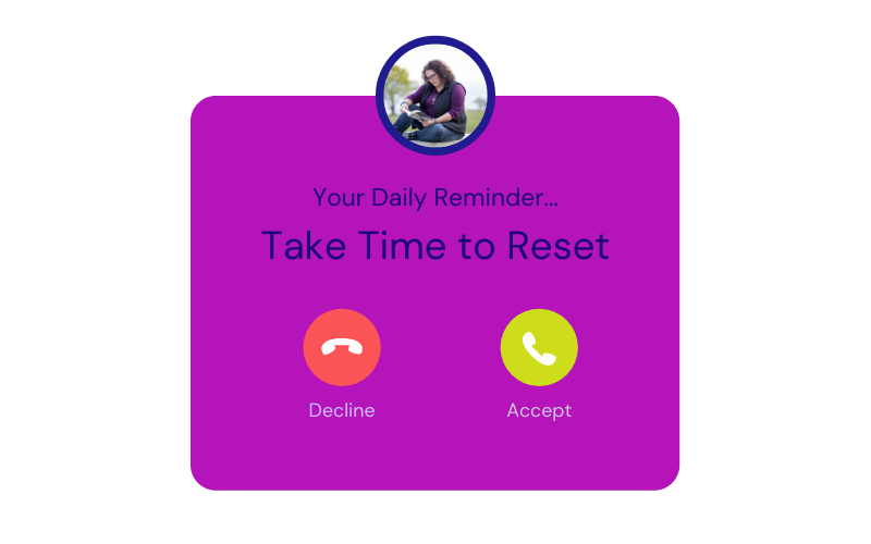 A reminder to take time to rest.